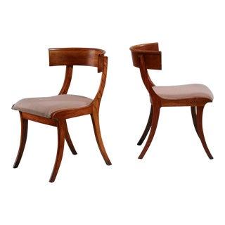 Pair of Danish Klismos chairs, early 20th century