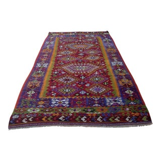 Vintage Turkish Kilim Rug - 6′6″ × 11′9″