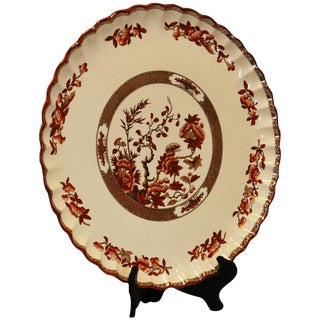 Spode Indian Tree Orange/Rust Round Torte Plate