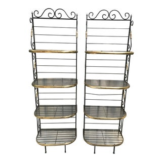 Antique Baker's Racks - A Pair