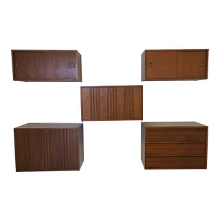 Mid-Century Floating Wall Unit - 5 Pc.