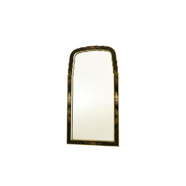 Black Lacquered Chinoiserie Chippendale Mirror - Image 7 of 8