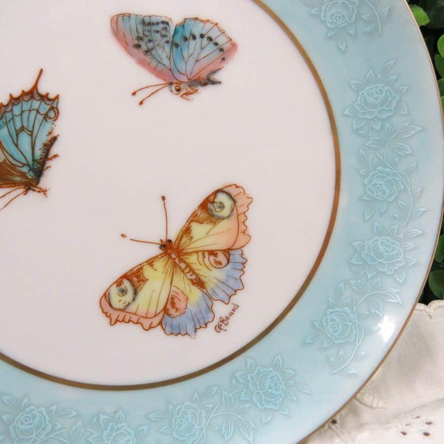 Mismatched Vintage Hand Painted Plates - Set of 4 - Image 4 of 11