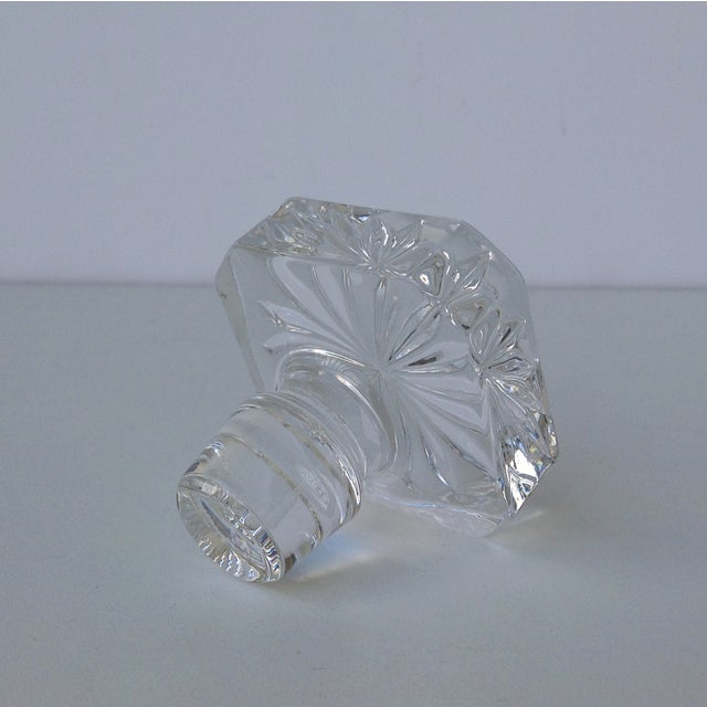 Glass Square Cut Beveled Decanter Top - Image 2 of 8