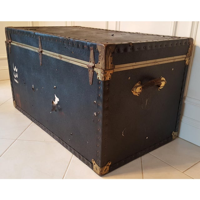 Vintage Extra Large Trunk - Image 7 of 11