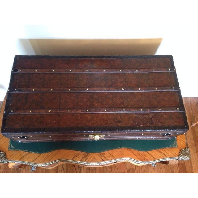 Vintage Louis Vuitton 3/4 Travel Steamer Trunk - Image 4 of 11
