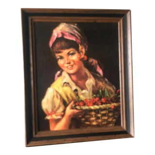 Vintage Country Girl Print