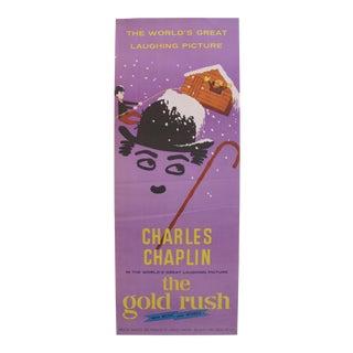 Vintage Charlie Chaplin Movie Poster, Gold Rush