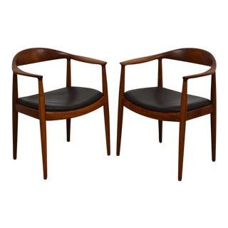 Hans J. Wegner Round Chairs - A Pair