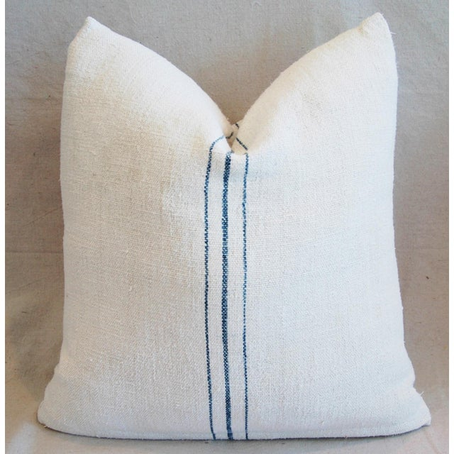 Image of Vintage French Grain Sack Textile Pillows - A Pair