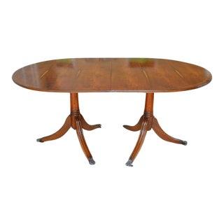 Double Pedestal Mahogany Dining Table