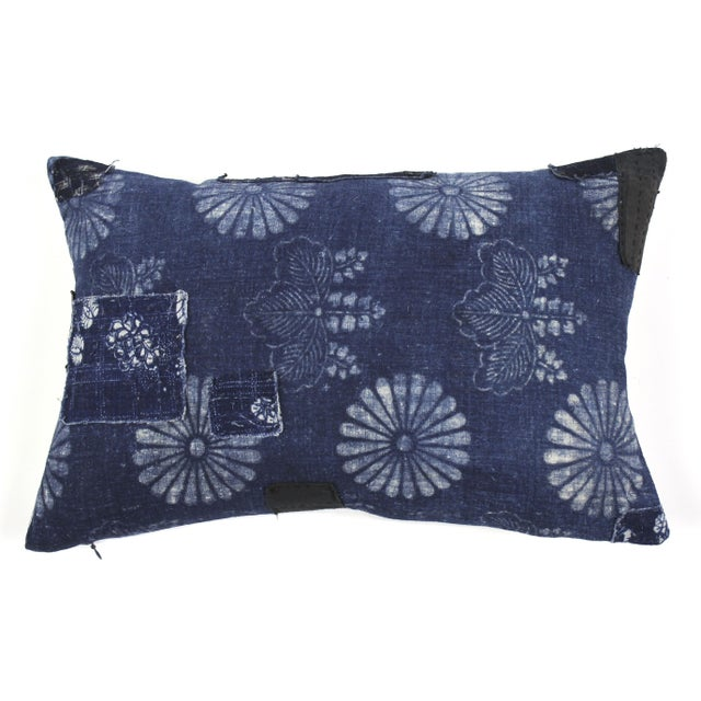 Image of Antique Indigo Boro Pillow