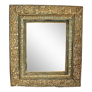 Gilt Rustic Beveled Mirror