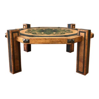 Maitland-Smith Style Arts & Crafts Leather Coffee Table