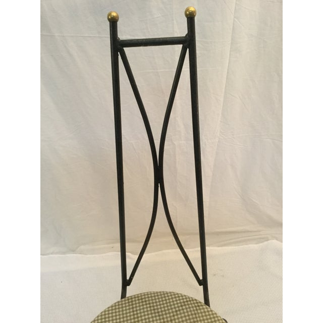 Image of 1950's Modernist Iron Dining Chairs - Set of 4