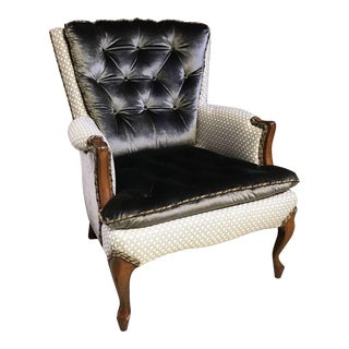 French Style Regina Tufted Bergere Chair