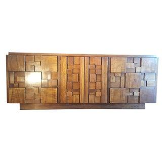 Paul Evans-Style Brutalist Sideboard by Lane