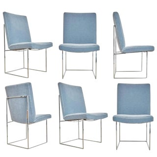 Circa 1970 Milo Baughman 1187 Dining or Side Chairs- Set of 6