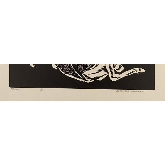 """""""Deer"""" Linocut by Belle Baranceanu - Image 2 of 2"""