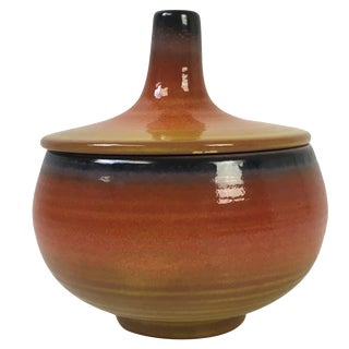 Mid-Century Haeger Covered Pottery Dish