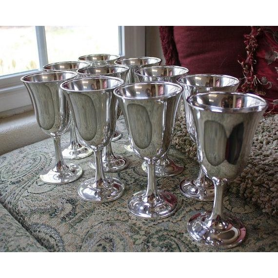 Wallace Silversmith Water Goblets - Set of 10 - Image 4 of 6
