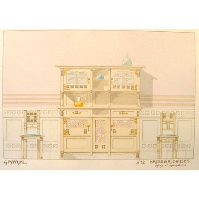 Vintage French Decorator Sheet Interior/Dresser - Image 2 of 3