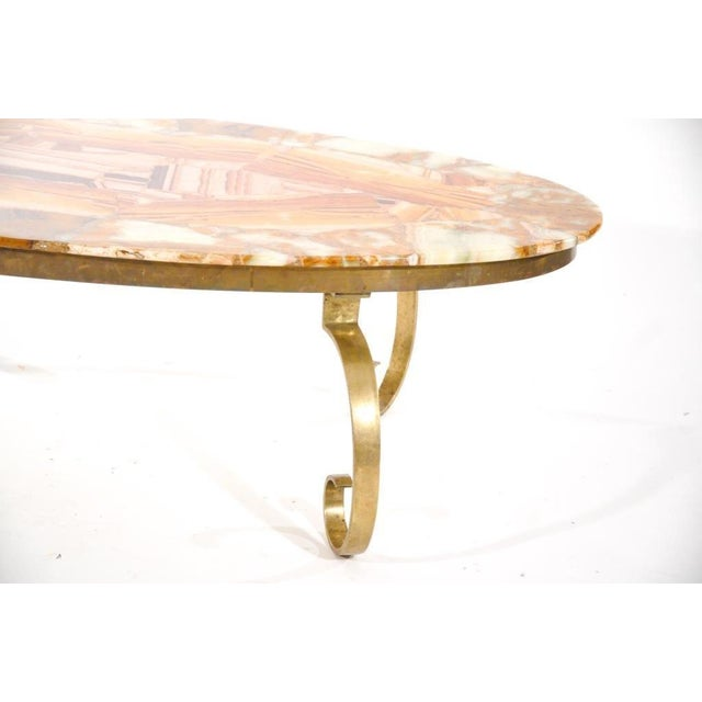 Arturo Pani for Muller Vintage Onyx Coffee Table - Image 4 of 6