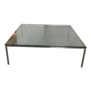 Eq3 Square Chrome & Glass Coffee Table