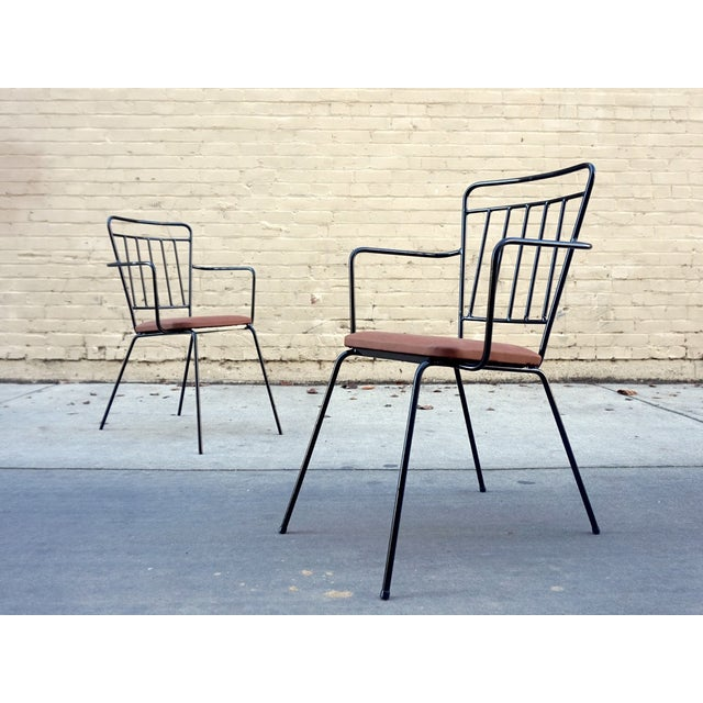 Vintage Iron Modernist Chairs - A Pair - Image 2 of 6