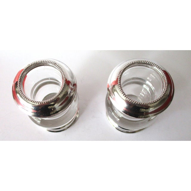 Vintage Silver & Glass Mini-Urn Vases - A Pair - Image 6 of 7