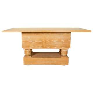 Mid-Century Style Limed Oak Console Table in the Manner of Paul Dupré-Lafon