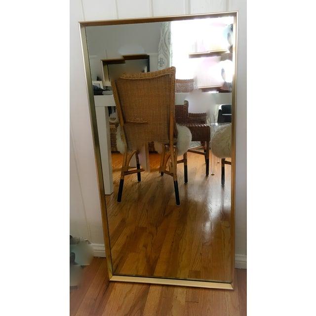 Image of Vintage Modern Gold Frame Mirror