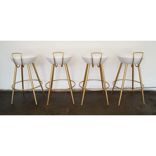 Mid-Century California Modern Bar Stools - Set of 4 - Image 8 of 11