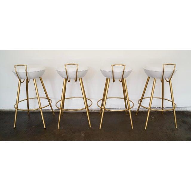 Image of Mid-Century California Modern Bar Stools - Set of 4