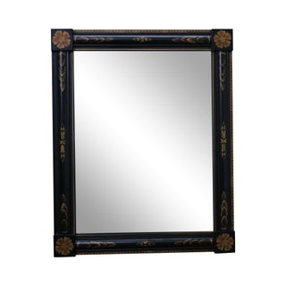 Hitchcock Black Federal Style Stenciled Wall Mirror
