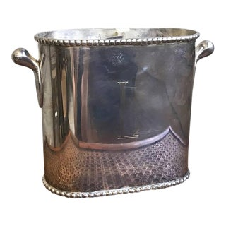 Vintage Pewter Wine Caddy