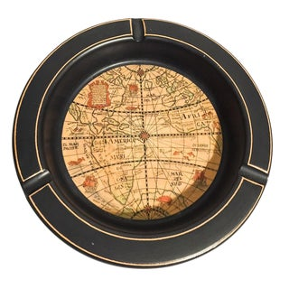 Mid-Century Italian Ceramic World Globe Ashtray