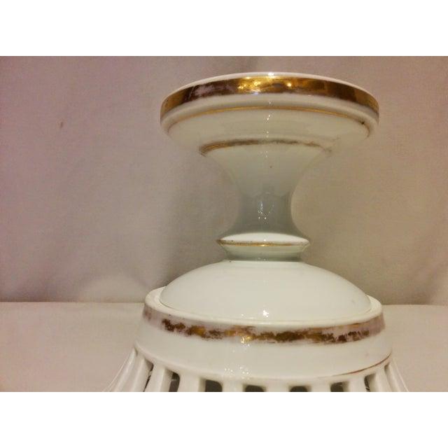 Antique Parisian White Porcelain Fruit Basket - Image 7 of 9