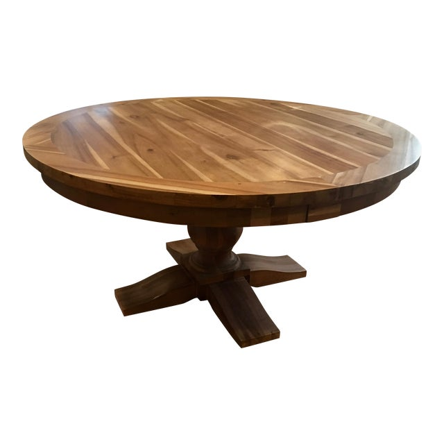 Restoration Hardware Round Dining Table - Image 1 of 5