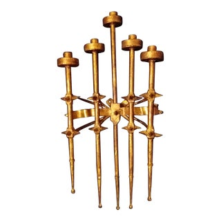Brutalist Spanish Revival Wall Candle Holder