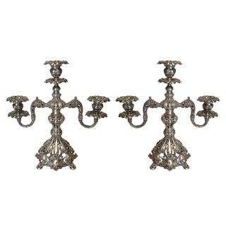 Reed & Barton Antique Silver Candelabras - Pair