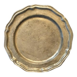 Crown Castle Vintage Pewter Plate