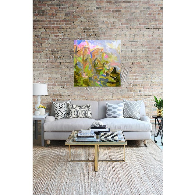 "Large Abstract Painting by Trixie Pitts ""Mountain Falls"" - Image 3 of 3"