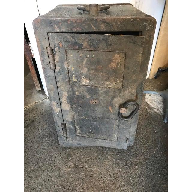 Solid Iron Antique Train Lock Box - Image 2 of 10