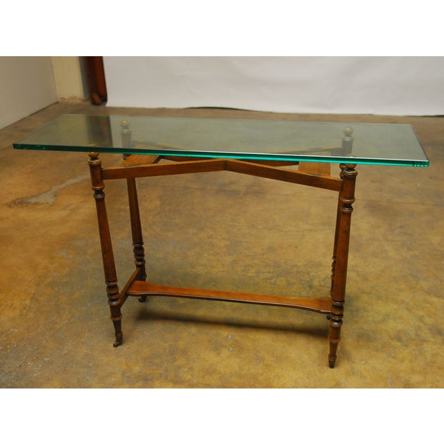 Henredon Glass Top Console - Image 2 of 7
