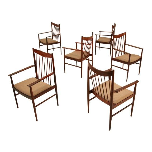 Arne Vodder set of 6 highback armchairs in rosewood, Denmark, 1960s - Image 1 of 7