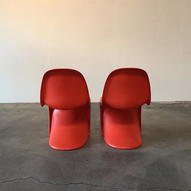 Vitra Red 'Panton' Dining Chair - Image 3 of 4
