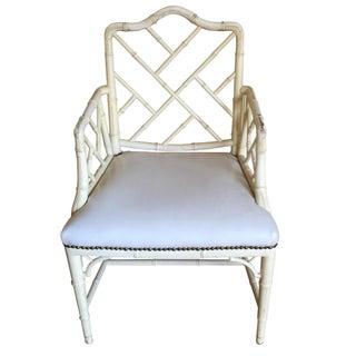 Mid-Century Chinoiserie Bamboo Chair