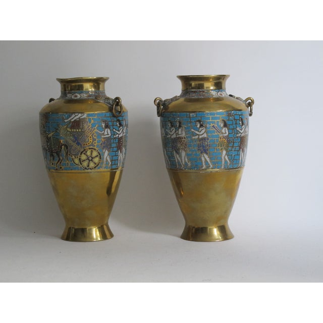 Egyptian Revival Urns - A Pair - Image 5 of 9