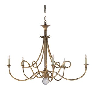 Visual Comfort Double Twist Brass Chandelier